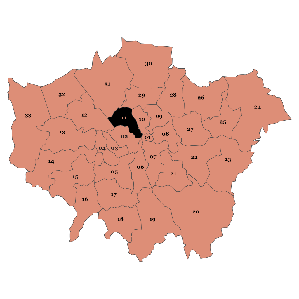Map of London, Camden