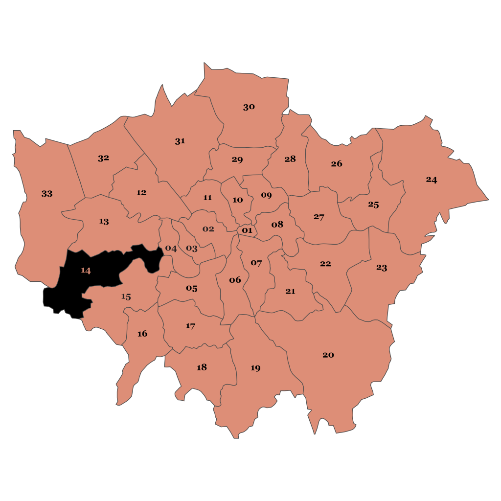 Map of London, Hounslow