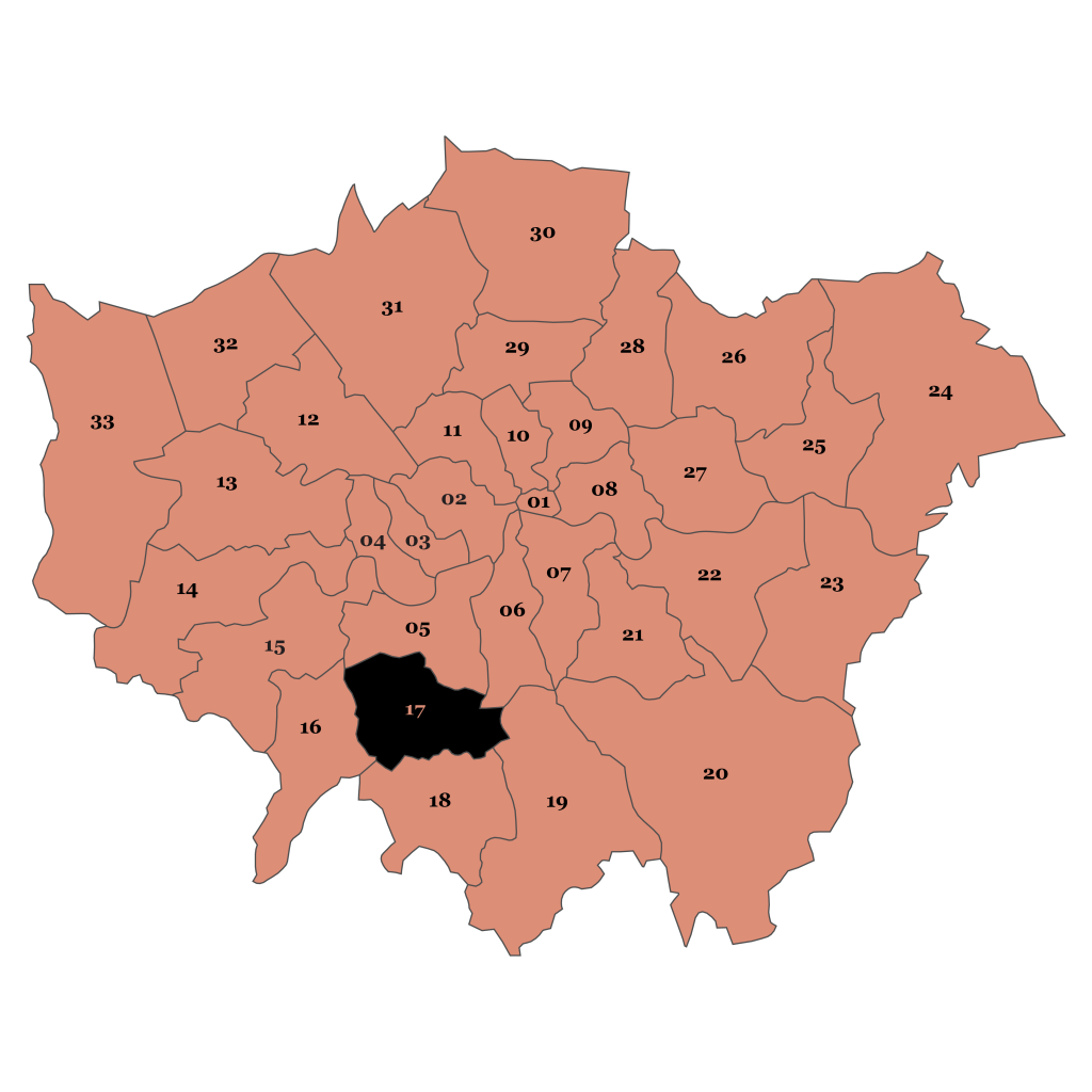 Map of London, Merton