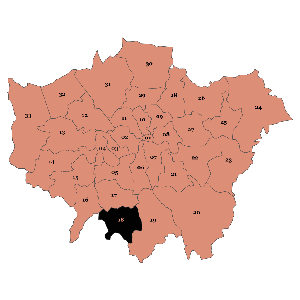 Map of London, Sutton
