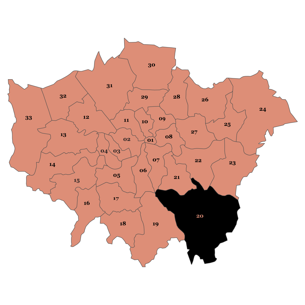 Map of London, Bromley