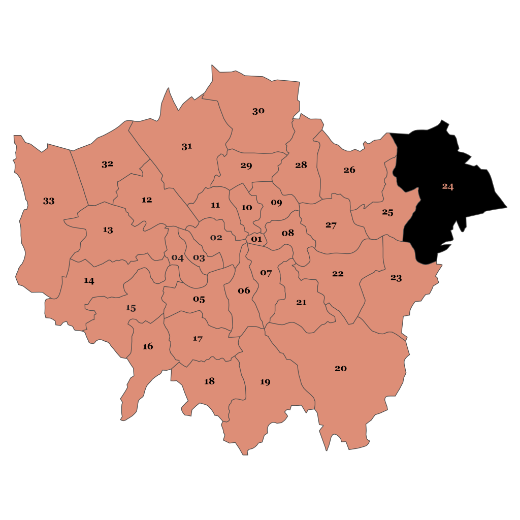 Map of London, Havering