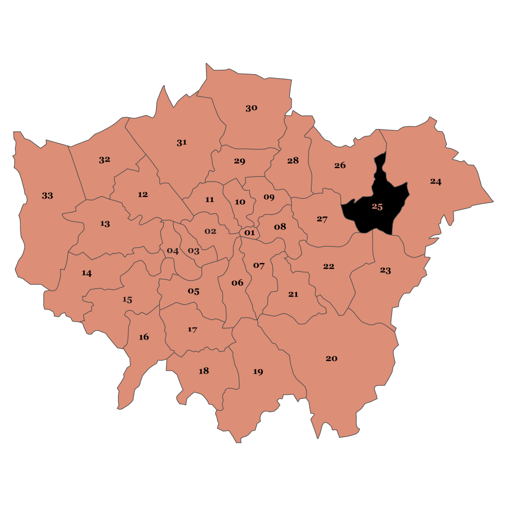 Map of London, Barking and Dagenham