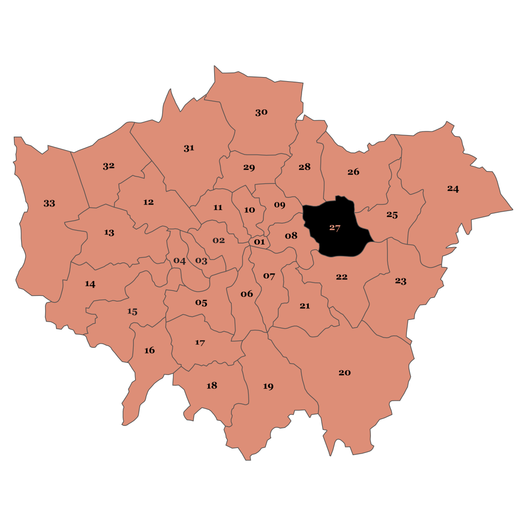 Map of London, Newham
