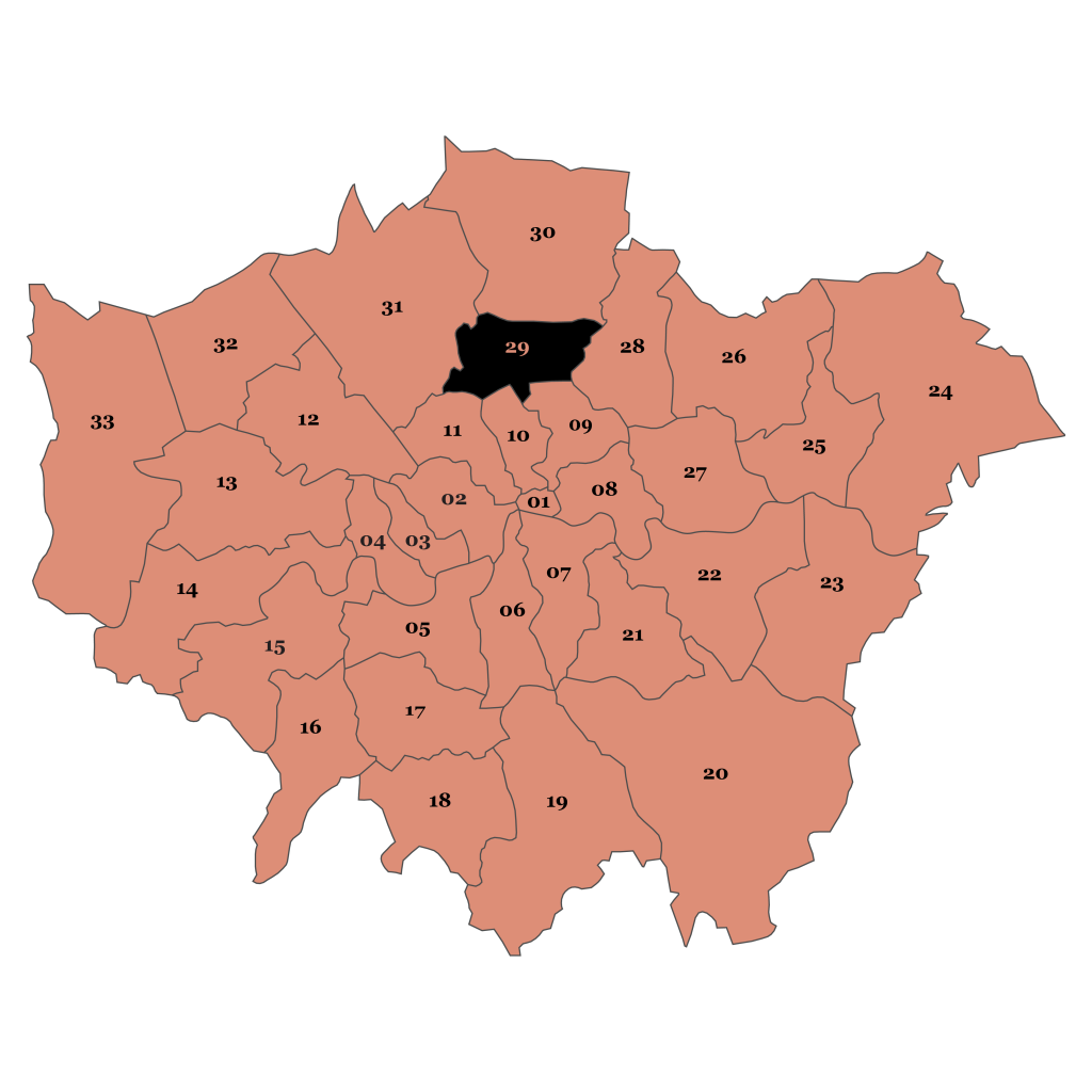 Map of London, Haringey